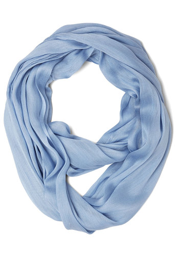 Brighten Up Circle Scarf in Periwinkle - Blue, Solid, Casual, Minimal, Good, Variation, Basic, Sheer, Woven, Spring, Press Placement