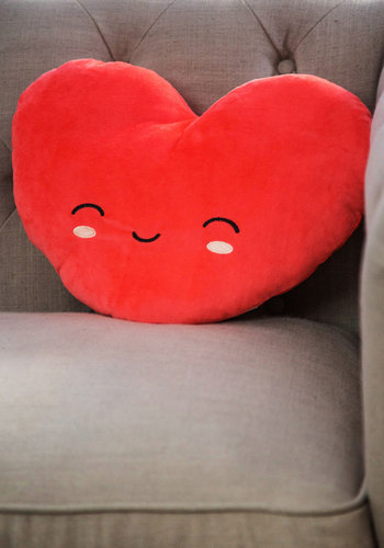 Loving Room Pillow - Knit, Red, Valentine's, Kawaii, Good, Graduation