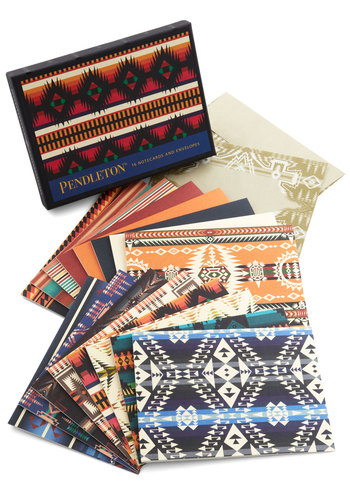 Pendleton Greetings From the Cabin Notecard Set by Chronicle Books - Multi, Good, Print, Boho, Top Rated, Under $20