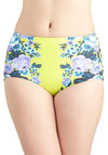 All Swell and Good Swimsuit Bottom by Seafolly - Knit, Green, Blue, Purple, Multi, Floral, Beach/Resort, High Waist, Festival