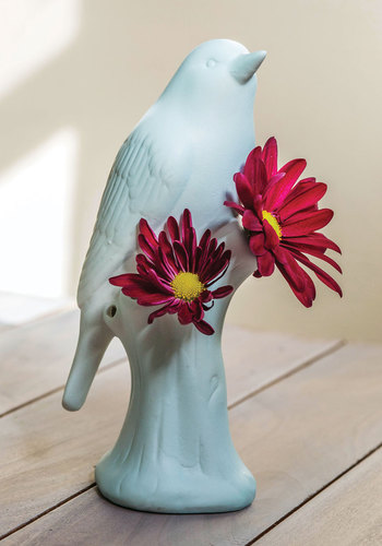 A Wing of Beauty Vase - Blue, Dorm Decor, Pastel, Good, Critters, Spring, Press Placement, Bird, Woodland Creature, Wedding