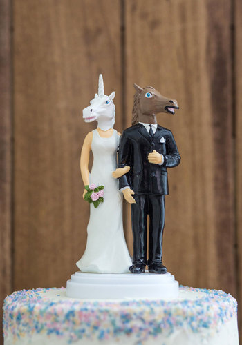 Blushing Bridle Wedding Cake Topper - Multi, Wedding, Quirky, Good, Halloween