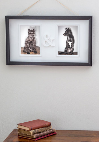 Glyphs, Ands, or Buts Photo Frame - Black, Valentine's, Dorm Decor, Good
