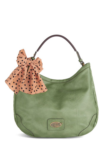 Off to Everywhere Bag by Nica - Green, Solid, Best, Faux Leather, Casual