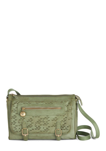 Fashion Field Work Bag by Nica - Green, Solid, Buckles, Best, Faux Leather