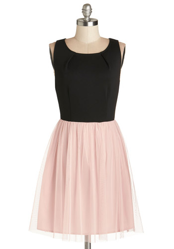 Dedicated Dreamer Dress in Pink by Jack by BB Dakota - Pink, Black, Party, Ballerina / Tutu, Twofer, Tank top (2 thick straps), Better, Exclusives, Knit, Mid-length, Scoop, Valentine's, Fairytale, Prom, Top Rated
