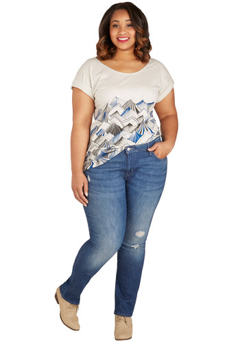Merch Maven Jeans in Plus Size by Levi's - Cotton, Denim, Woven, Blue, Solid, Pockets, Casual, Skinny