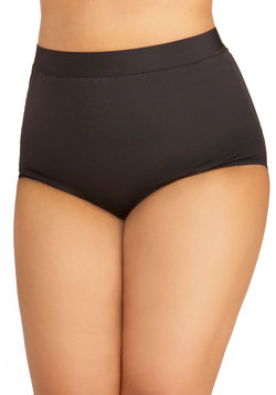 Seaside Serenity Swimsuit Bottom in Black - Plus Size