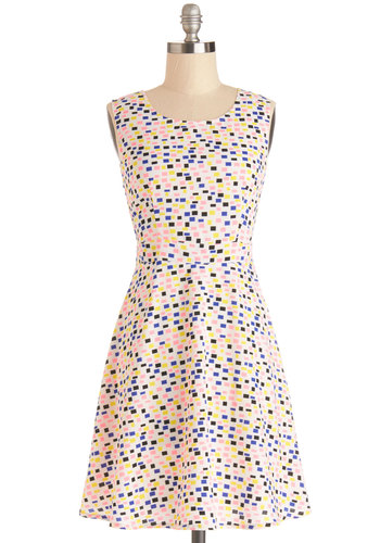 Bright Side By Side Dress - Woven, Multi, Print, Cutout, Party, A-line, Sleeveless, Better, Scoop, Spring