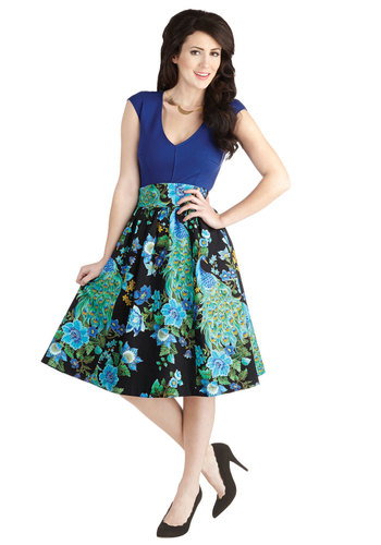 Flair for the Fantastic Skirt in Peacock from ModCloth