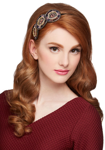 In Favor of Fashion Headband - Black, Multi, Rhinestones, Festival, Good