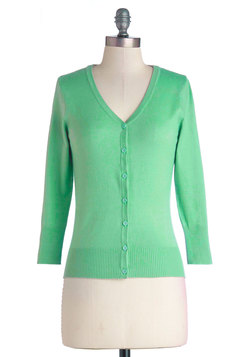 Charter School Cardigan in Jade