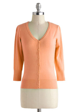 Charter School Cardigan in Peach