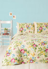 Quaint Hardly Wait Quilt Set in Queen/Full by Karma Living - Cotton, Woven, Cream, Floral, Boho, Best, Multi, Dorm Decor, Spring