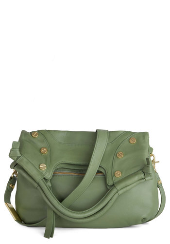 There Comes a Thyme Bag - Solid, Luxe, Leather, Best, Variation, Green, Work