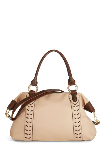 Beige to Differ Bag - Brown, Solid, Work, Faux Leather, Better, Pink, Cream