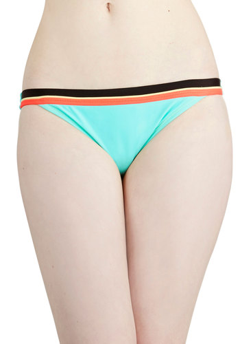 Sure Look Swell Swimsuit Bottom - Knit, Blue, Orange, Black, Trim, Beach/Resort, Summer
