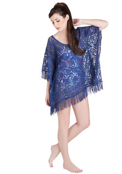 Seaside Lounging Cover-Up in Blue