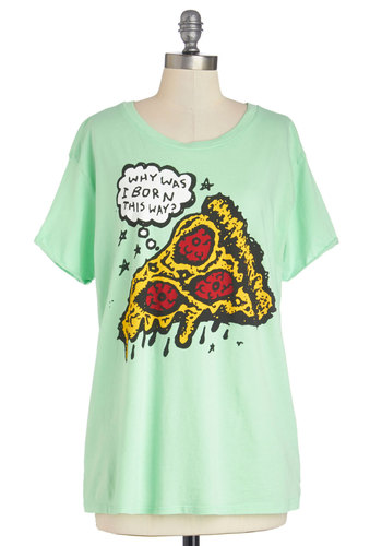 Melt My Heart Tee - Mint, Red, Yellow, Novelty Print, Casual, Food, Short Sleeves, Better, Exclusives, Knit, Sheer, Mid-length, Quirky, Green, Short Sleeve, Spring, Summer, Good