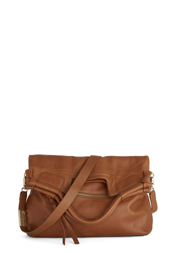 Chelsea and Be Seen Bag in Cognac by Foley+Corinna - Solid, Luxe, Leather, Best, Variation, Brown