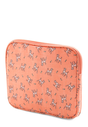 Code and Tie Tablet Case by Ollie & Nic - Coral, Pink, Print with Animals, Travel, International Designer, Woven, Graduation, Pastel, Critters, Dog