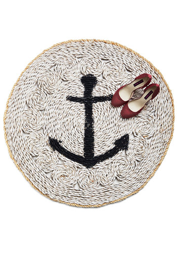 Porch and Starboard Rug - 3x3 - Tan, Tan / Cream, Nautical, Better, Novelty Print, Summer