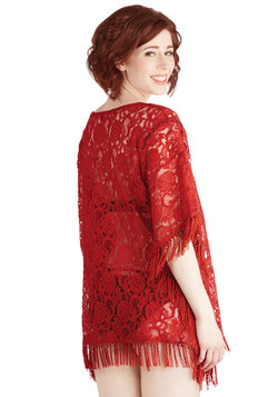 Seaside Lounging Cover-Up in Red