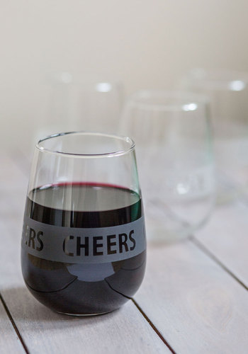 Here's to the Host Glass Set - Multi, Minimal, Good, Sayings