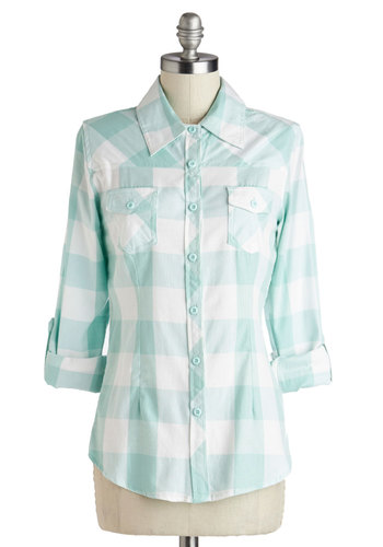 Simply Scout Top in Maycomb - Mid-length, Spring, Tab Sleeve, Green