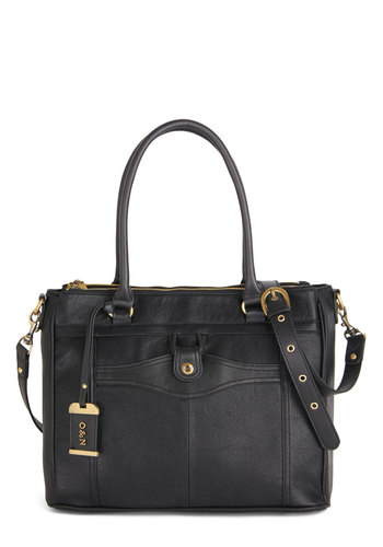 Corner Office Carryall Bag by Ollie & Nic - Black, Solid, Work, Best, International Designer, Faux Leather, Travel, Fall