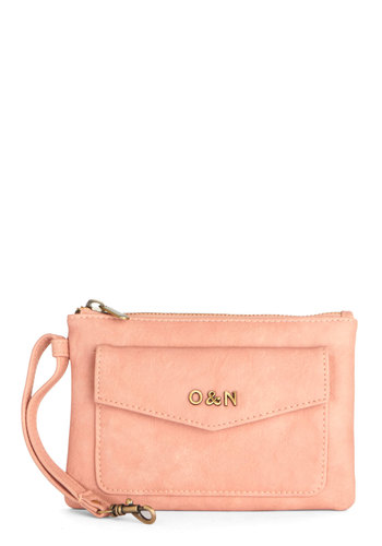 Packed with Pretty Clutch by Ollie & Nic - Solid, Faux Leather, Pink, Good, Pink, International Designer, Social Placements