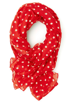 Dots to Discuss Scarf in Cherry