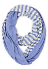 Swathed in Spring Circle Scarf in Rain - Blue, White, Stripes, Nautical, Good, Cotton, Casual, Variation