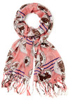 Change for the Better Scarf - Multi, Better, Cotton, Sheer, Pink, Novelty Print, Casual