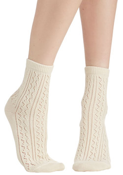 Whimsy for Yourself Socks in Ivory