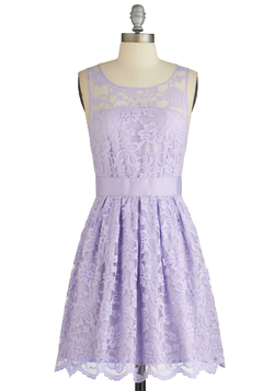 When the Night Comes Dress in Violet