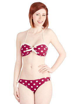 Sight for Shore Eyes Two-Piece Swimsuit in Dots
