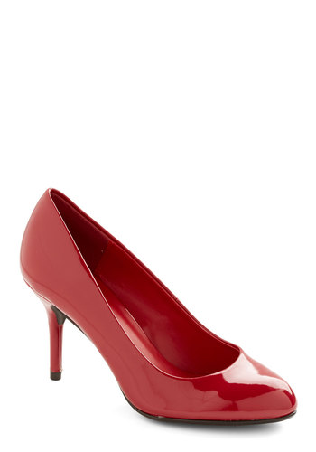 Studio to Stage Heel - Mid, Faux Leather, Red, Solid, Prom, Party, Work, Girls Night Out, Holiday Party, Valentine's, Pinup, Good