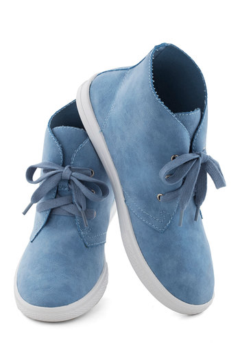 Having a Ball Game Sneaker - Low, Faux Leather, Blue, White, Solid, Urban, Good, Lace Up, Casual