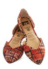Dreaming of Destinations Flat in Rust by BC Footwear - Flat, Woven, Red, Multi, Print, Better, Variation