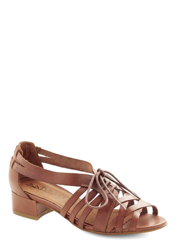 Stride for First Sandal - Low, Leather, Solid, Spring, Summer, Best, Lace Up, Strappy, Brown, Festival, Boho