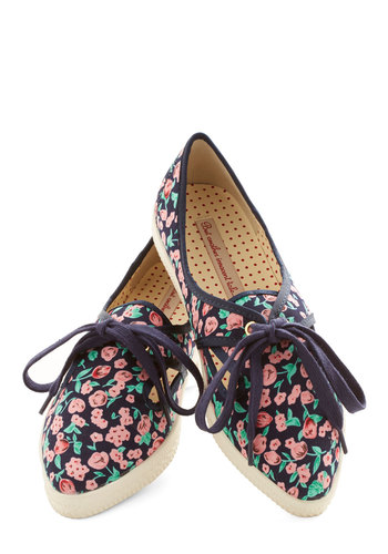 Posy for Yourself Sneaker in Navy by Bait Footwear - Low, Woven, Blue, Multi, Floral, Better, Lace Up, Casual, Variation, Summer