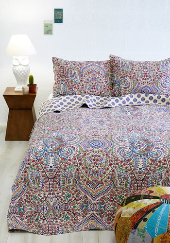 Refreshed and Radiant Quilt Set in King - Cotton, Woven, Multi, Paisley, Multi, Boho, Best