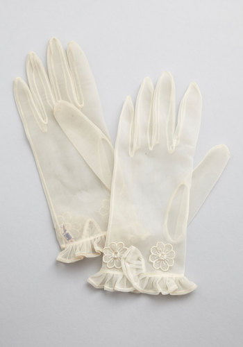 Vintage Frilly of the Valley Gloves