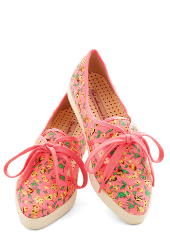 Posy for Yourself Sneaker in Pink by Bait Footwear - Woven, Low, Pink, Multi, Floral, Casual, Valentine's, Good, Lace Up, Variation, Summer