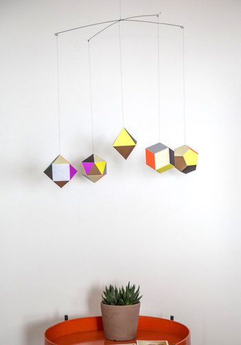 Along Came Polygon Mobile - Multi, Colorblocking, Mid-Century, Better, 60s, Guys