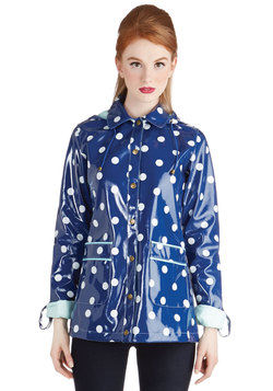 Rain Dots Keep Falling Raincoat