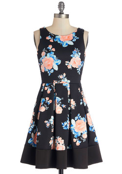Midnight Blossom Dress