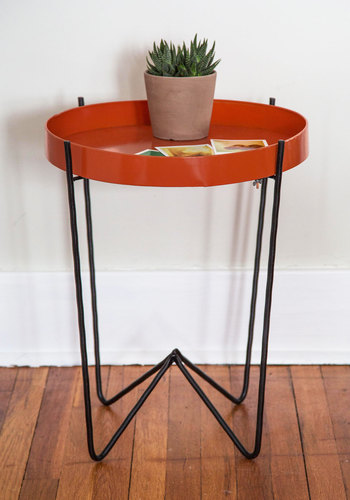 Just Citrus and Talk Accent Table - Best, Orange, Black, Solid, Mid-Century, Minimal