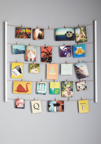 Twine After Time Photo Hanger Kit - White, White, Dorm Decor, Minimal, Good, Wedding